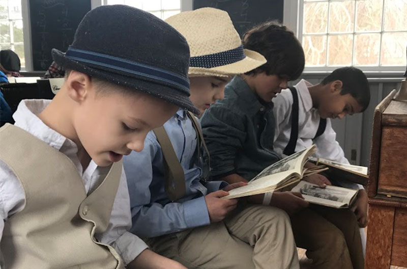 A step back in time for Miller Avenue School students