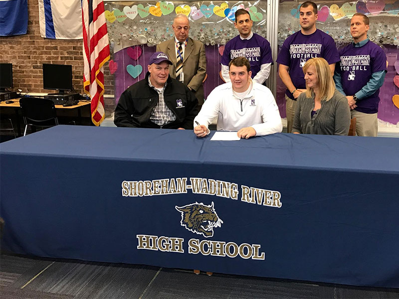 Football Star Signs with Northwestern