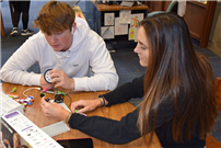 Creativity and collaboration in High School's Makerspace photo