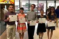 Recognizing musical achievements at Tri-M Induction photo